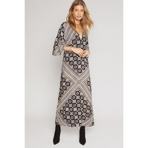 AMUSE SOCIETY Scorpio Print Maxi Dress